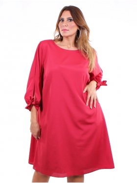 Robe doublée rouge