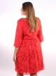 Robe florale rouge