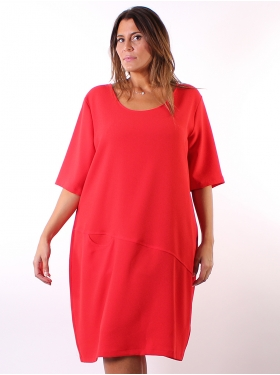 Robe unie rouge