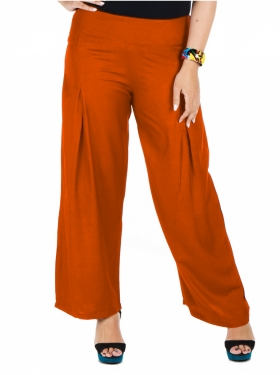 Pantalon large rouille