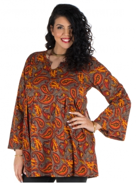 Tunique mandala choco, orange