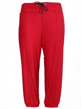Pantalon stretch rouge
