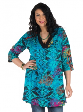 Tunique robette bleue, multi