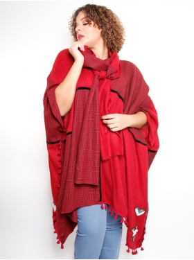 Tunique oversize rouge E. Boublil