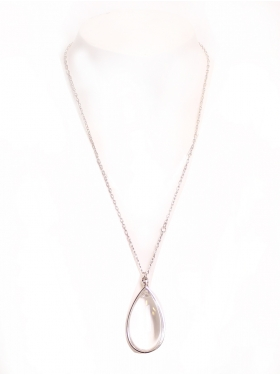 Collier goute blanche