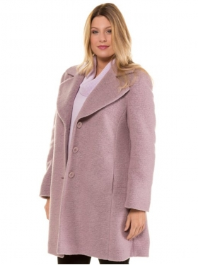 Manteau en laine rose
