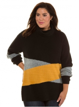 Pull maille douce imp.