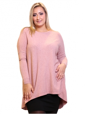 Pull rose col rond