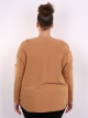 Pull broderie camel
