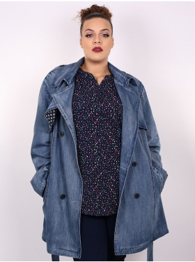 Manteau en jean denim