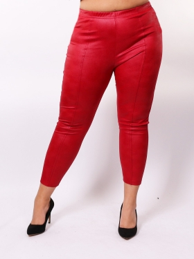 Legging simili rouge
