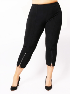 Legging noir à zip