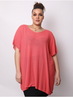 Tunique oversize corail