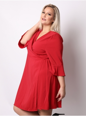 Robe cache coeur rouge