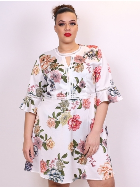 Robe florale blanche