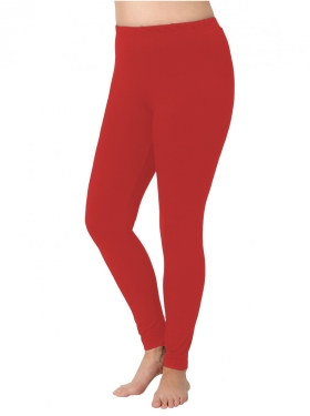 Legging long rouge