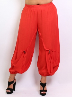 Pantalon ample rouge