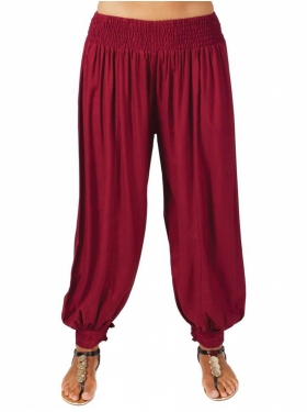 Pantalon Sarouel bordeaux Too Coton