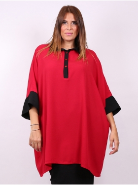 Tunique rouge oversized E.Boublil