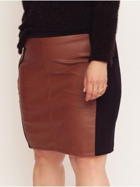 Jupe marron Plus Size