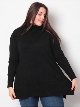 Pull marine col boule