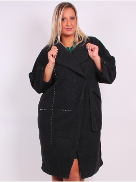 Manteau couture anthracite