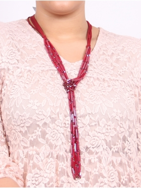 Collier chic rouge