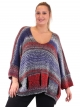 Pull laine rouge en maille grande taille