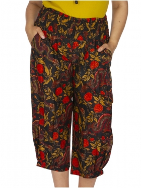 Pantalon kaki, rouge