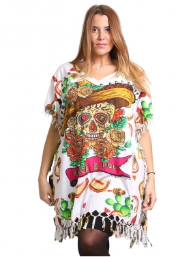 Big T-shirt imprimé Klimt