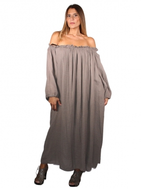 Robe oversize taupe